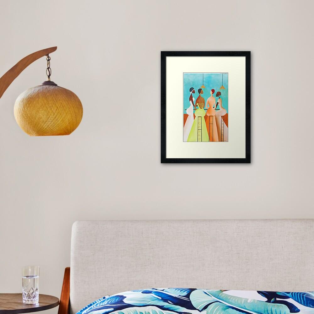 Conversatin Framed Art Print