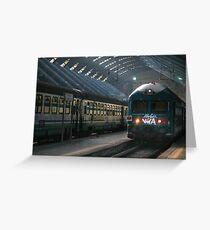 Milano Train Station, Early Morning Greeting Card