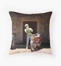 The Bikies of Cockington Green Throw Pillow