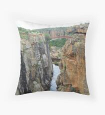 Crossing the barriers of time Throw Pillow