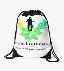 Sarcasm Foundation - Like we need your support T-shirt Drawstring Bag