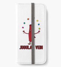 Jugular Vein - Funny Medical Student Quote Gift iPhone Flip-Case/Hülle/Klebefolie