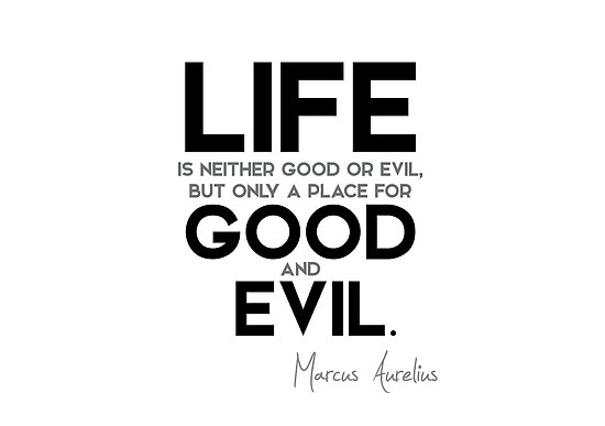life is a place for good and evil - marcus aurelius by razvandrc