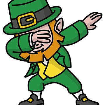 Dab dabbing leprechaun St. Patrick's day by LaundryFactory