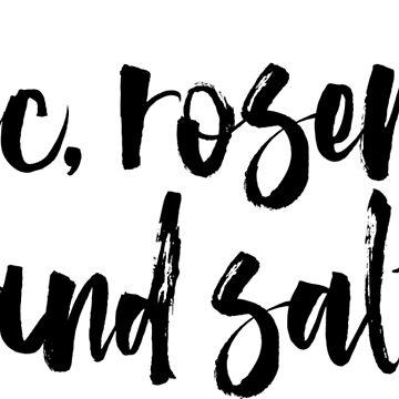 garlic, rosemary and salt by ScottCarey