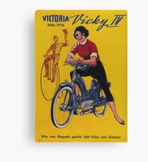 Vintage Poster - Motorcycle Advertising Canvas Print