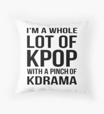 A LOT OF KPOP - WHITE Throw Pillow