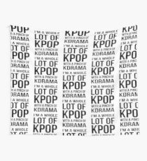 A LOT OF KPOP - WHITE Wall Tapestry