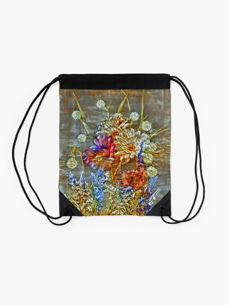 Alternate view of Flowers Drawstring Bag