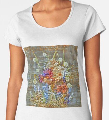 Flowers Premium Scoop T-Shirt