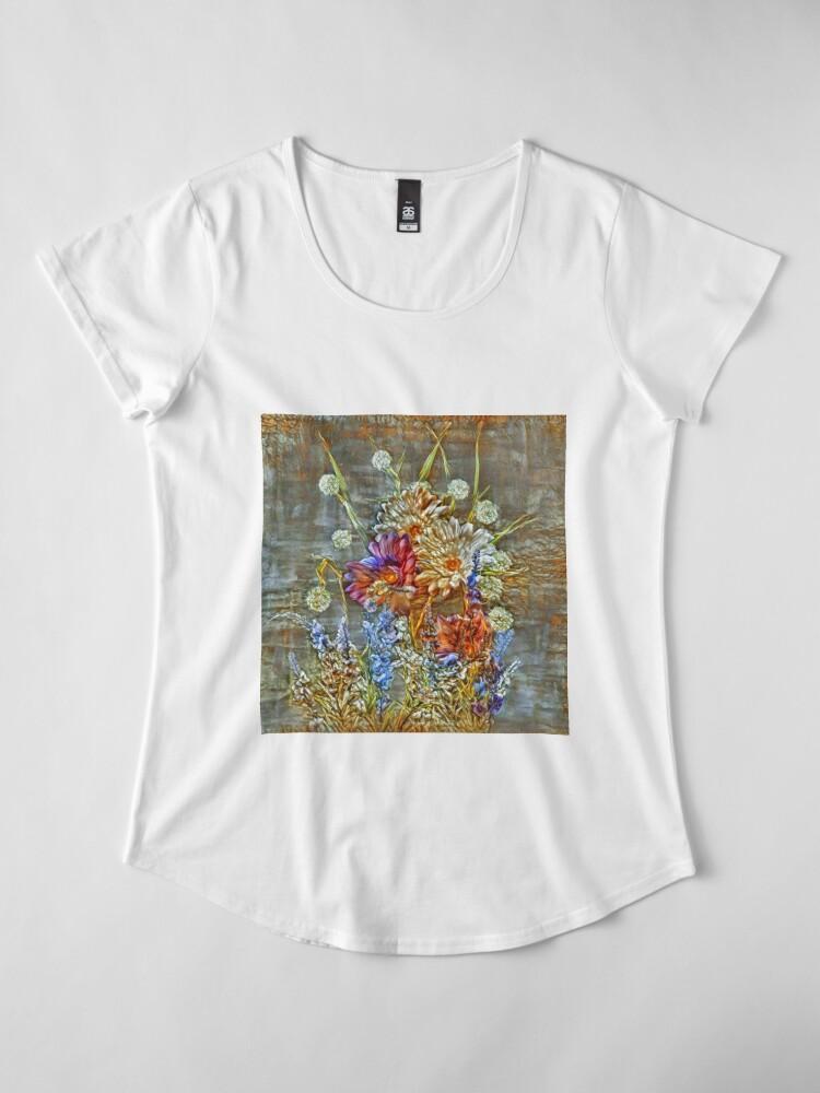 Alternate view of Flowers Premium Scoop T-Shirt