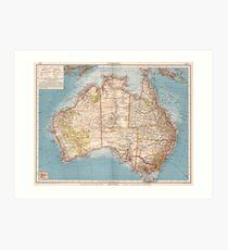 Australian Topography Map (1905)  Art Print