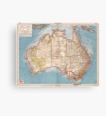Australian Topography Map (1905)  Canvas Print
