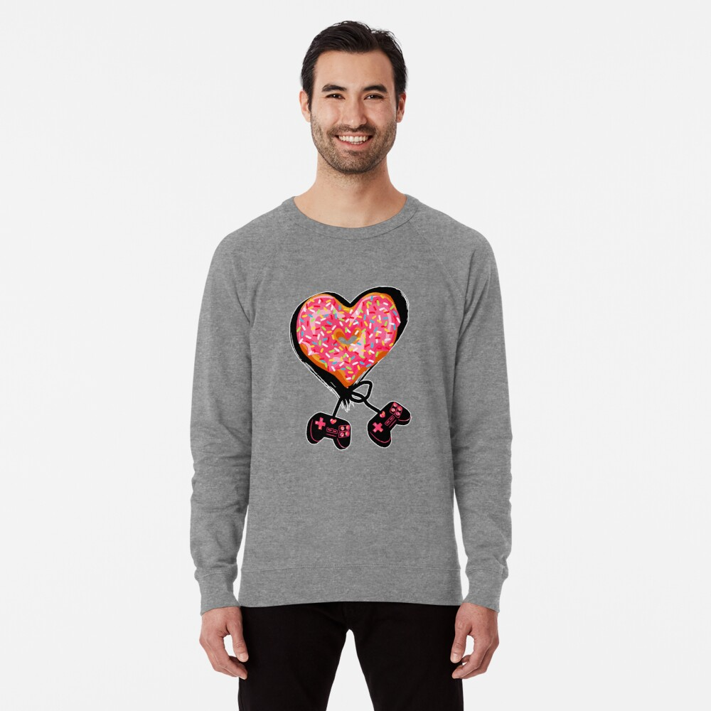 Gaming Console Donut T-Shirt for Donut Lover and Gamer Shirt Gift Lightweight Sweatshirt