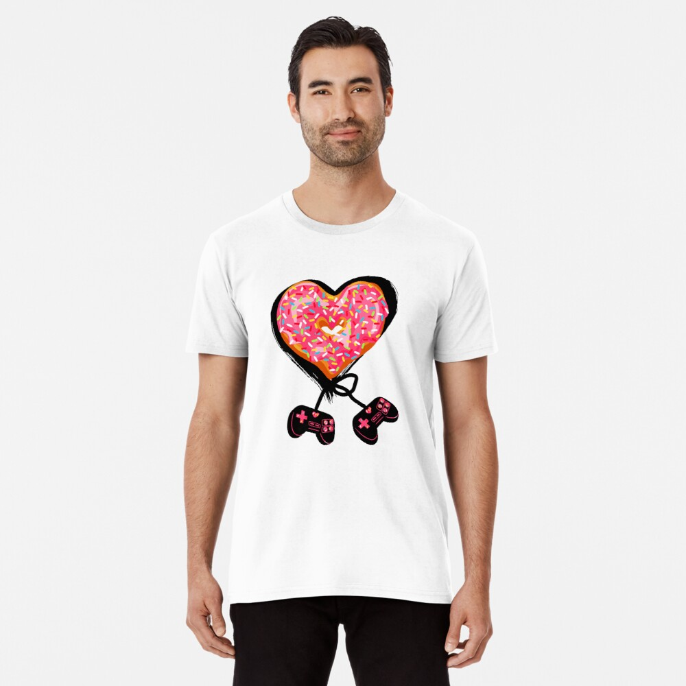 Gaming Console Donut T-Shirt for Donut Lover and Gamer Shirt Gift Premium T-Shirt