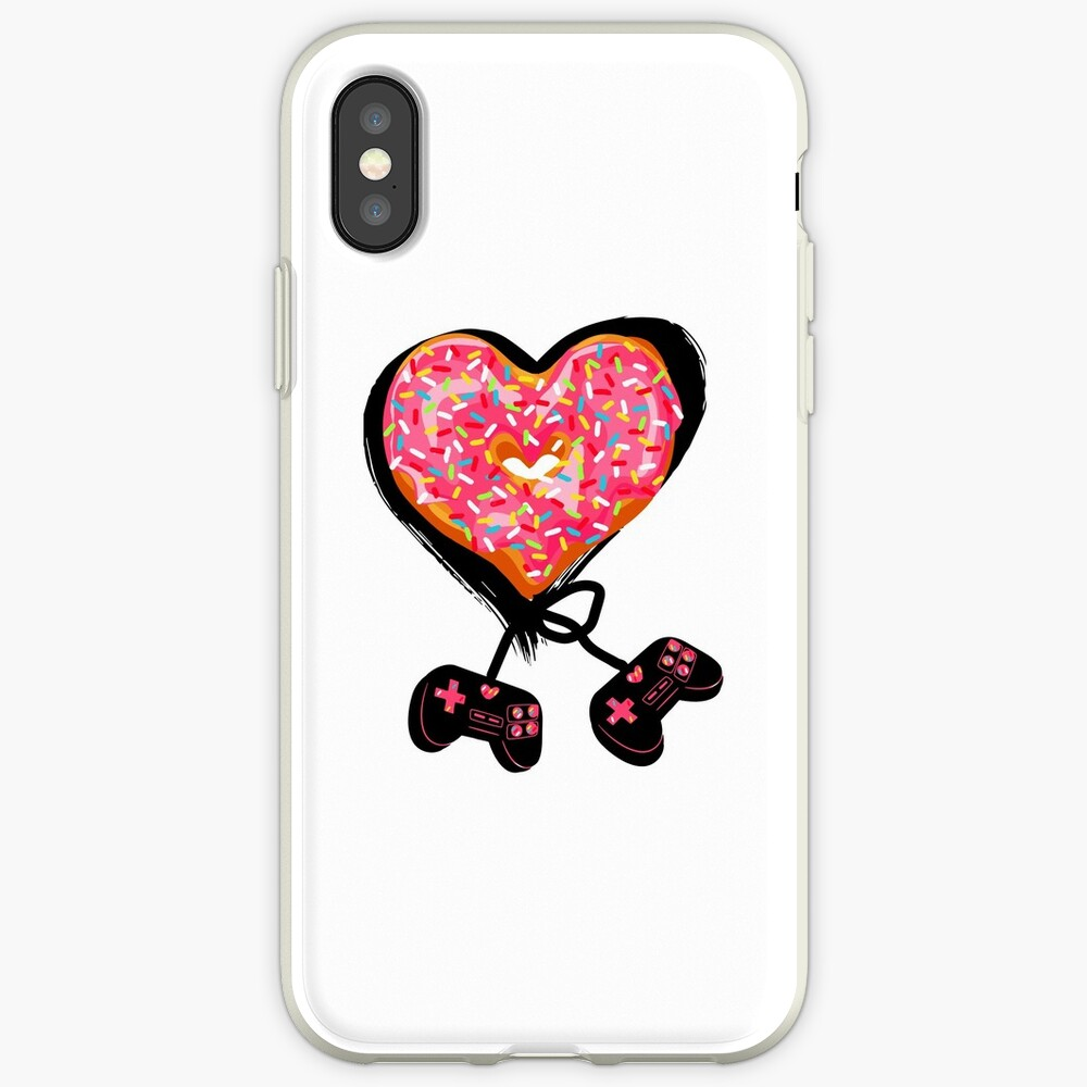 Gaming Console Donut T-Shirt for Donut Lover and Gamer Shirt Gift iPhone Case & Cover