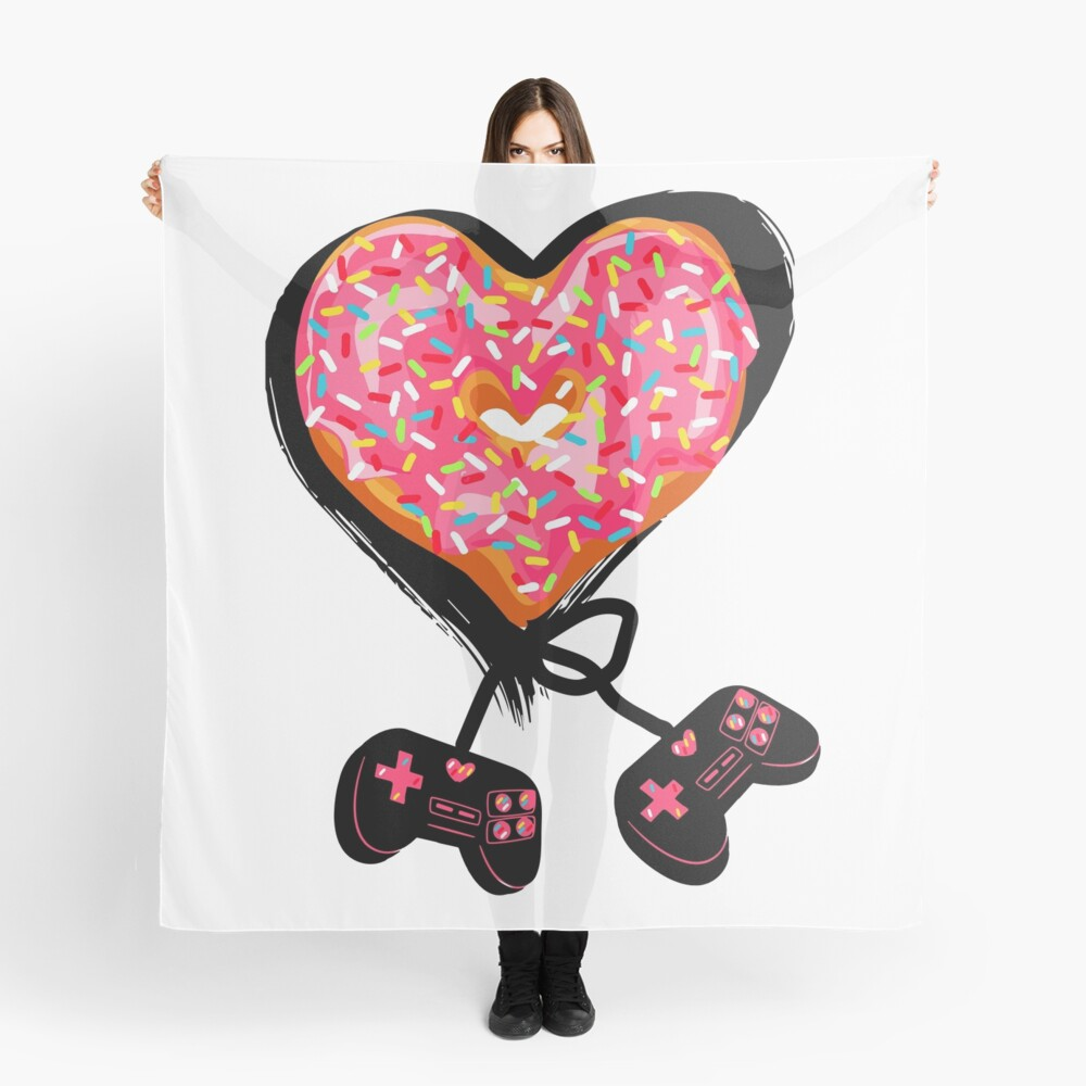 Gaming Console Donut T-Shirt for Donut Lover and Gamer Shirt Gift Scarf