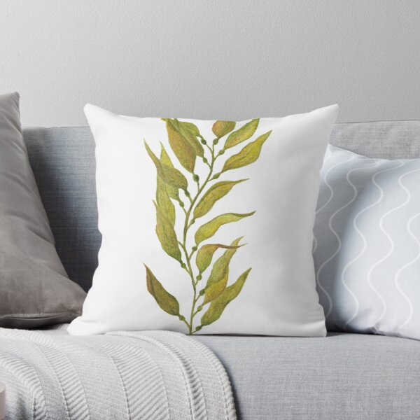 watercolour kelp Throw Pillow