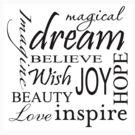 love dream inspire phrases by thatstickerguy