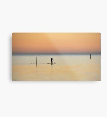 Lone paddler Metal Print