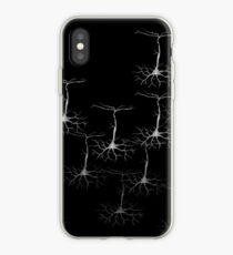 Pyramidal cells on black iPhone Case