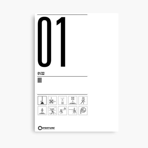 Portal Türschild 01 - Große Version Leinwanddruck