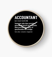 Accountant Definition Funny Accounting Noun Meaning Gift Clock