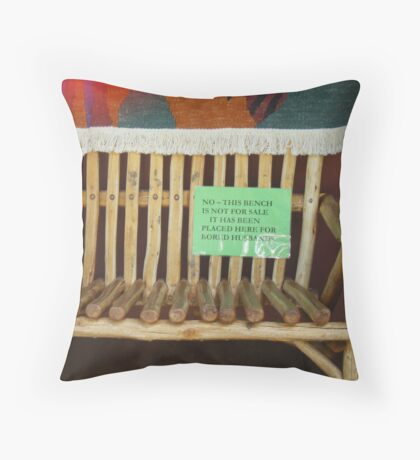 For husbands bored with shopping Throw Pillow