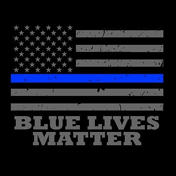 Blue Lives Matter Police Officer Thin Blue Line Flag by bluelinegear