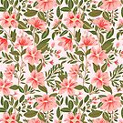 Pink Botanical Dream Pattern by Alja Horvat