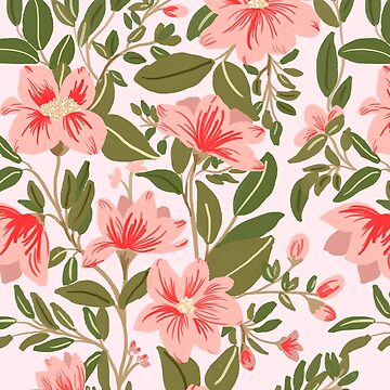 Pink Botanical Dream Pattern by chotnelle