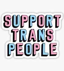 Support Trans People Sticker