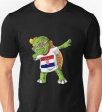 Croatia Dabbing Turtle Unisex T-Shirt