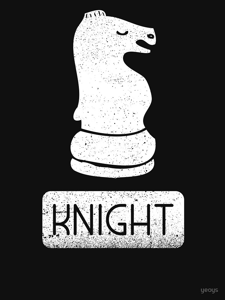 Knight Chess Piece - Cool Chess Club Gift by yeoys