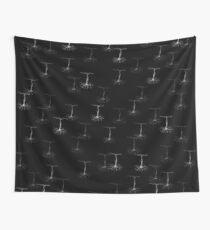 Pyramidal cells on black Wall Tapestry