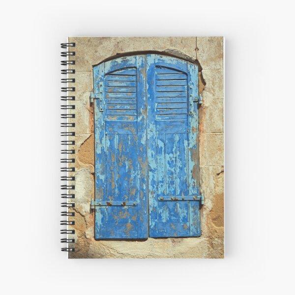 www.lizgarnett.com - French Blue Shutters Spiral Notebook