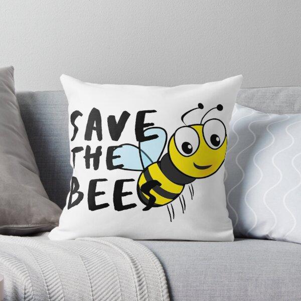 Save the Bees! Sweet Bee Vegan Gift Idea Throw Pillow
