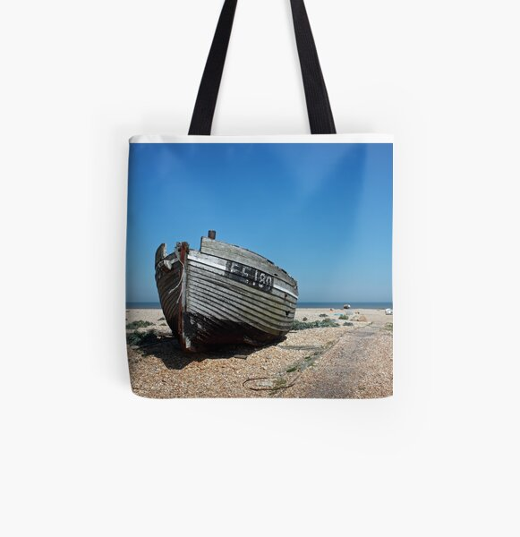 www.lizgarnett.com - Dungeness Fishing Boat All Over Print Tote Bag