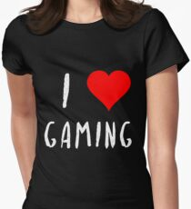 I love gaming gamer love video games gift Women's Fitted T-Shirt