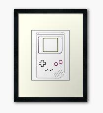 Gameboy Vector Framed Print