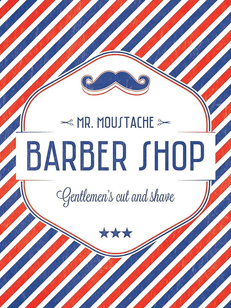 Mr. Moustache Barber Shop by the99thstudio