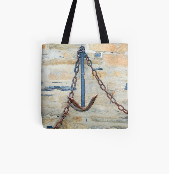 www.lizgarnett.com - St Cast Anchor All Over Print Tote Bag