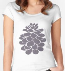 stilized dove grey pine Women's Fitted Scoop T-Shirt