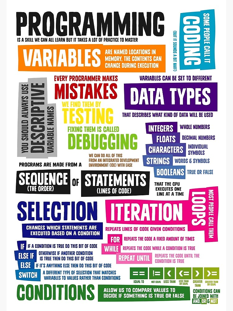Programming Coding Key Vocabulary Literacy and Definitions by lessonhacker