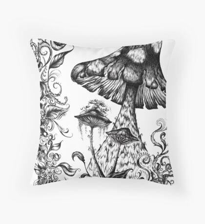 Mushroom Gully Throw Pillow