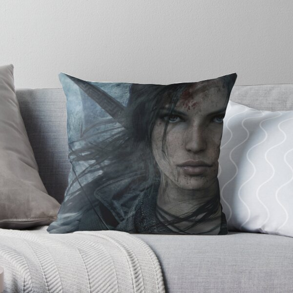 Tomb raider Lara Croft Throw Pillow