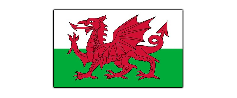 how to draw welsh flag
