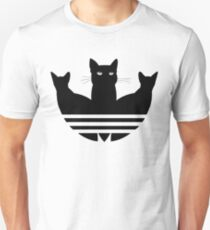 Original Adicats Logo Cute Cats Kitten For Cat Lovers Black Funny AdidasLogo without text Unisex T-Shirt