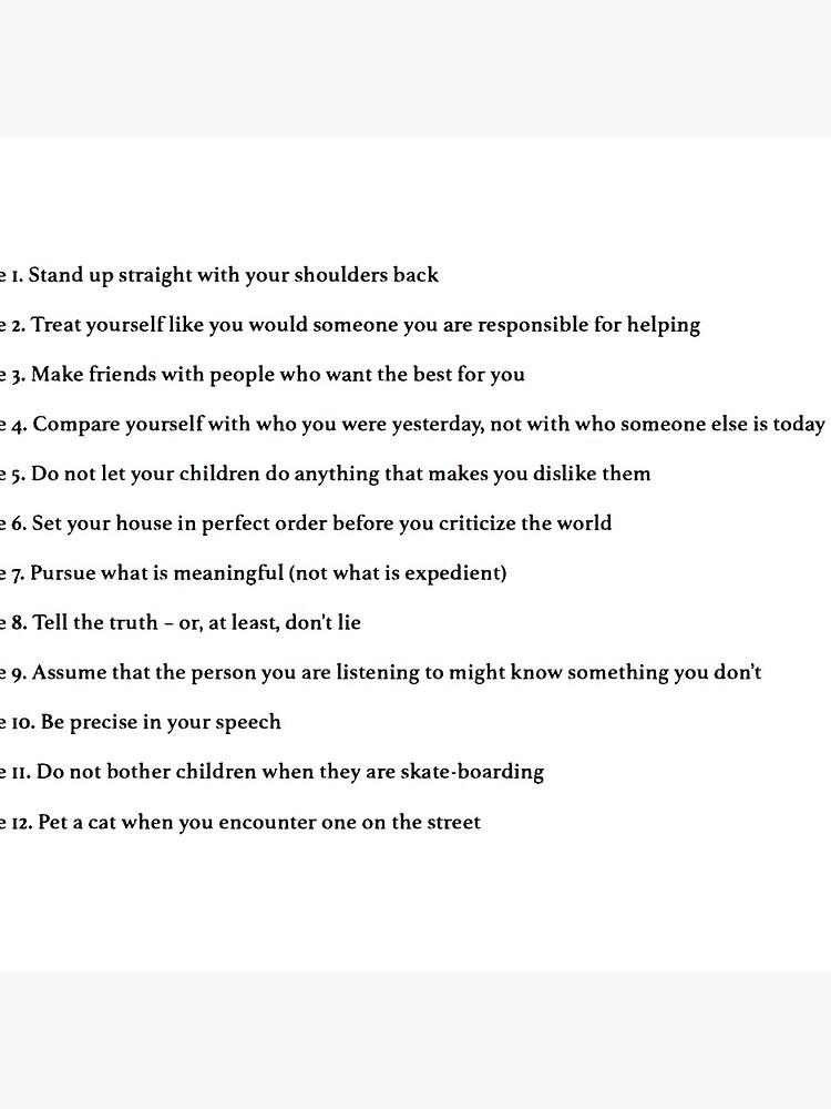 impactante Lijadoras marea  Bolsa de tela «Jordan Peterson 12 reglas para la vida» de lauragfarb    Redbubble
