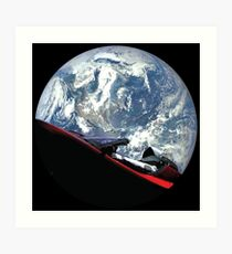 Lámina artística SpaceX Starman